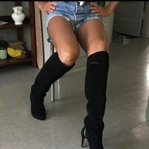 Diesel suede over the knee boot